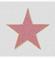 fame star on transparent background vector image vector image