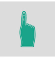 Fans foam finger icon vector image vector image