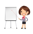 Female Manager Gives a Presentation or Seminar vector image vector image