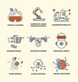 future technology thin line concepts design vector image vector image