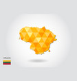 geometric polygonal style map of lithuania low vector image vector image