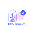 home insurance concept house protection service vector image