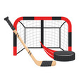 ice hockey cartoon vector image