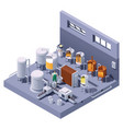 isometric craft beer brewery vector image