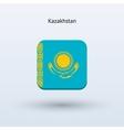 Kazakhstan flag icon vector image vector image