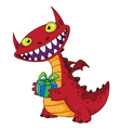 laughing dragon and gift vector image