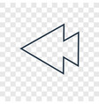 left arrow concept linear icon isolated on vector image