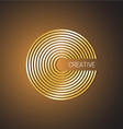 Letter C logo template Golden wide lines style vector image vector image