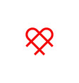 love logo design template vector image vector image