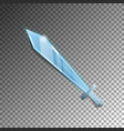 medieval sword isolated game element vector image vector image