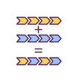 mutation process rgb color icon vector image vector image