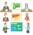 News presenter concept set cartoon style vector image