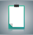 paper a4 icon on the grey background vector image