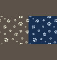 paw texture bicolor vector image