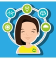 people and environment isolated icon design vector image