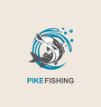 pike fish icon vector image vector image