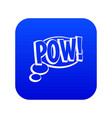pow speech bubble icon digital blue vector image vector image
