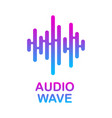 pulse music player audio colorful wave logo vector image vector image