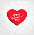 red heart design in paper cut style vector image vector image