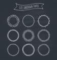 Romantic Wreaths on Chalkboard vector image vector image