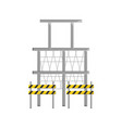 scaffold and trafic barrier vector image vector image