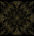 seamless gold and black background vector image vector image