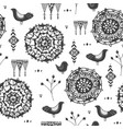 seamless hand drawn doodle tribal pattern vector image vector image
