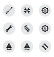 set of 9 editable service icons includes symbols vector image
