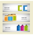 Set of containers for food preservation vector image vector image