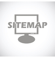 Sitemap black icon vector image vector image