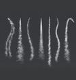smoke trail plane trails light airplane smoke vector image vector image