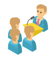 speaker icon isometric 3d style vector image vector image