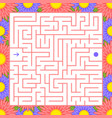 square color labyrinth an interesting game for vector image vector image