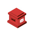 square mailbox correspondence postal mail vector image
