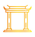 traditional asian gate monument gradient style vector image