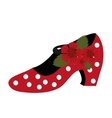 Traditional flamenco shoes icon vector image vector image