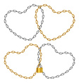 Two heart-shaped chain vector image