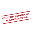 United Kingdom Manchester Watermark Stamp vector image vector image