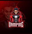 vampire esport mascot logo design vector image vector image