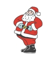 Vintage laughing santa claus isolated on white vector image vector image