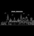 zaragoza silhouette skyline spain - zaragoza vector image vector image