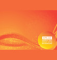 red and orange color wave abstract background vector image