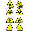set chemical warning signs vector image