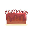 chocolate cake for birthday party sweet dessert vector image