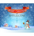 Christmas greeting card in vintage style vector image
