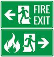 Emergency fire exit door signs vector image