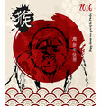 2016 Happy Chinese New Year Monkey gorilla red vector image