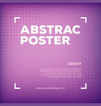 abstract color poster vector image vector image