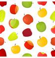 apples different varieties seamless pattern vector image