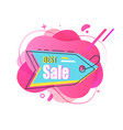 best sale blue colored liquid stylish tag vector image vector image